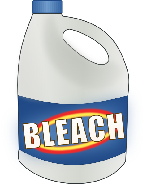 bottle of bleach png