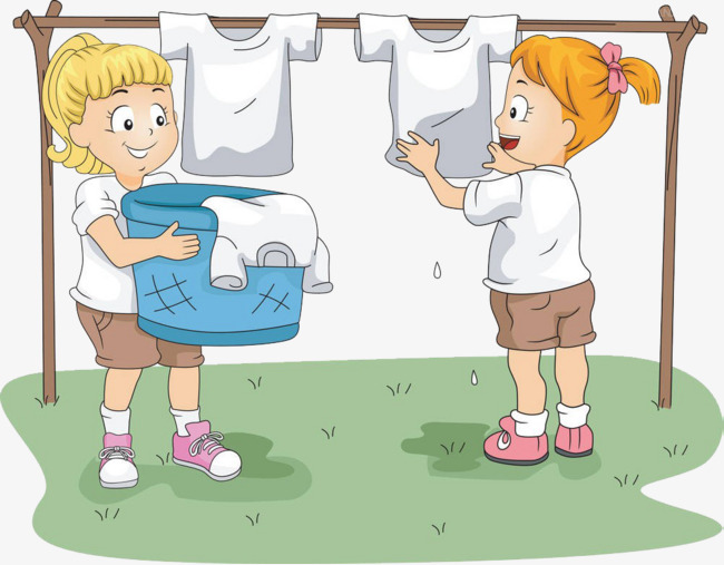 Laundry clipart child work. The children are washing