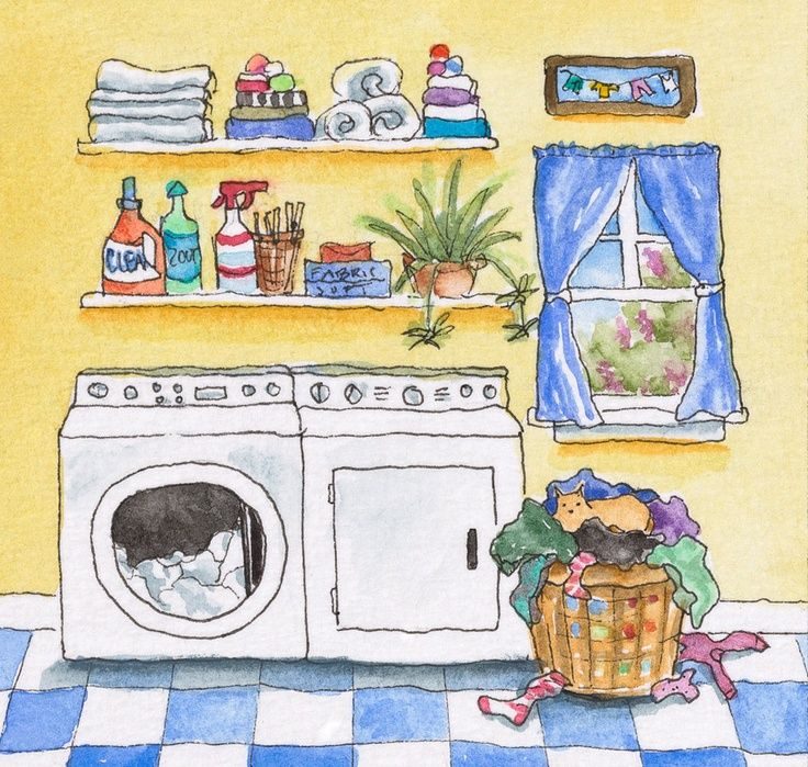 Laundry clipart laundry room. Best illustration day