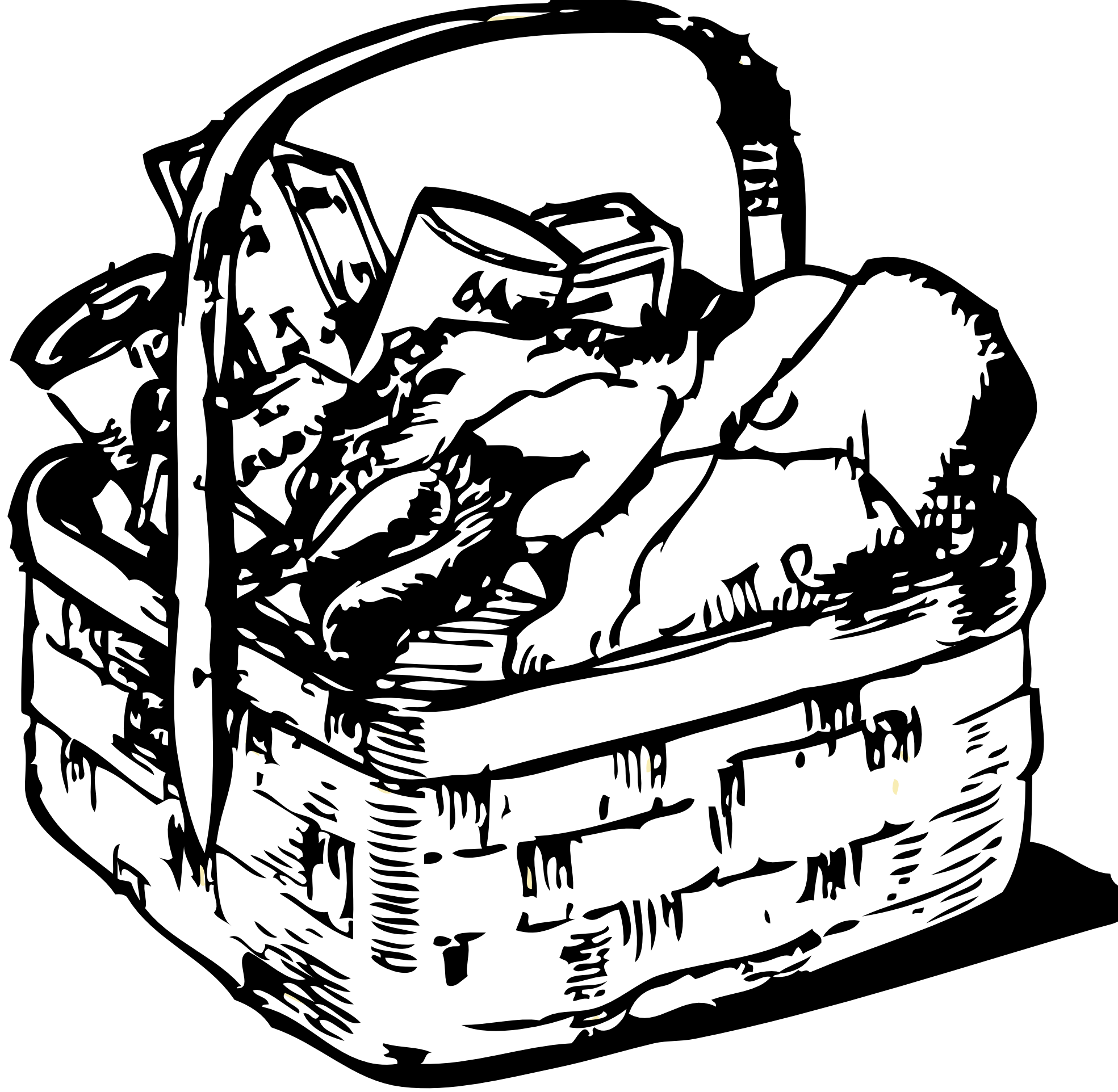 laundry drawing bag