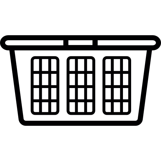 Laundry drawing basket. Clip art free
