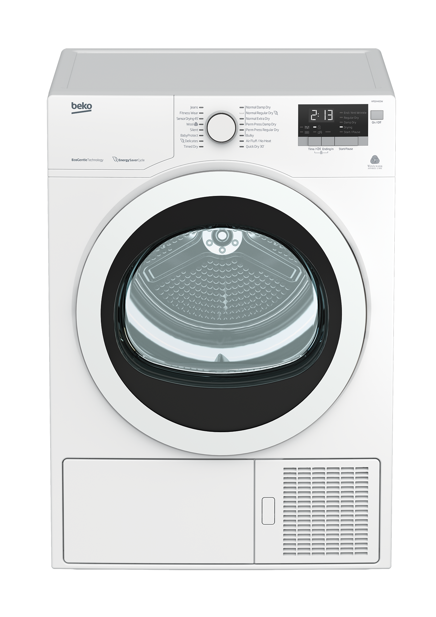 Wash drawing clothes dryer. Hpd w inch ventless