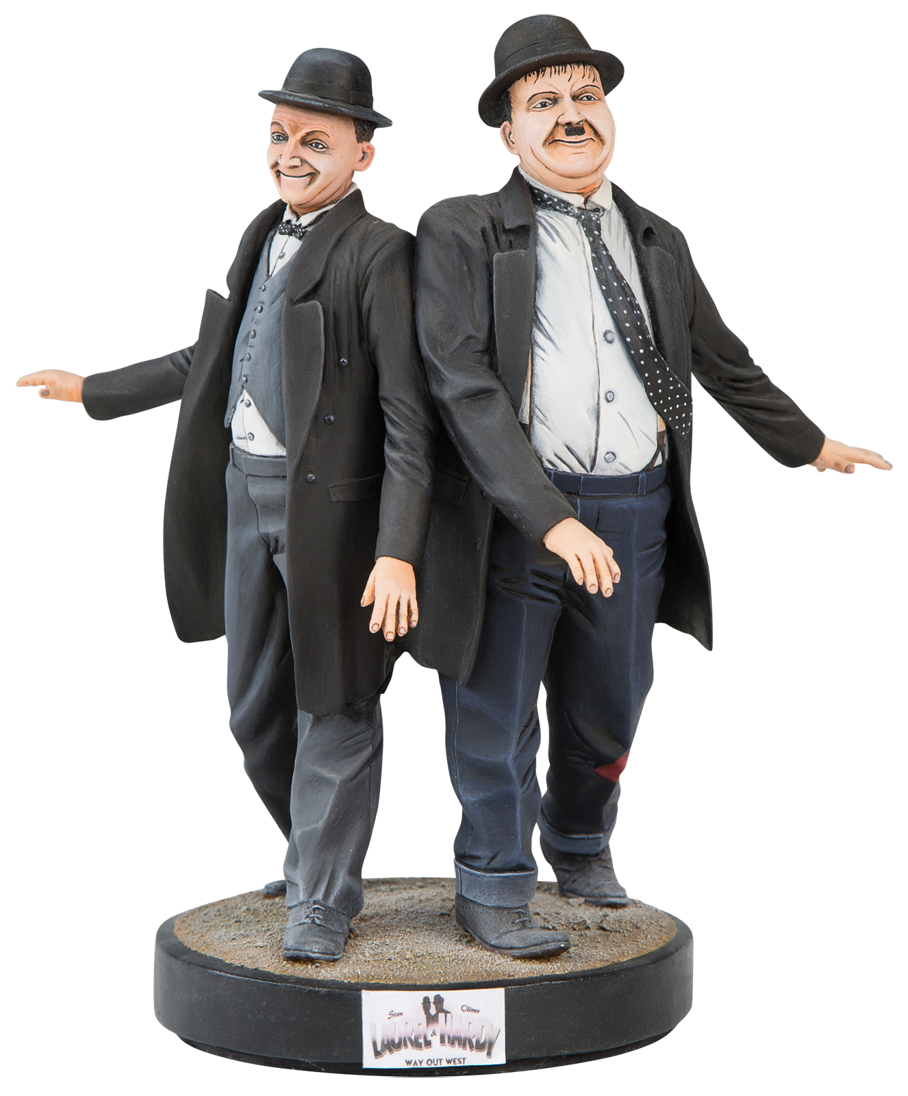 Laurel and hardy png. Michael welch sculptures way