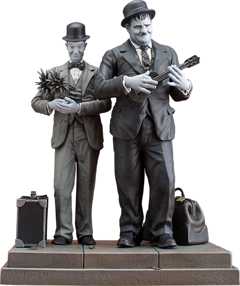 Laurel and hardy png. Stan oliver honolulu statue