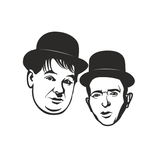 Laurel and hardy png. Sticker vinyl et pinterest