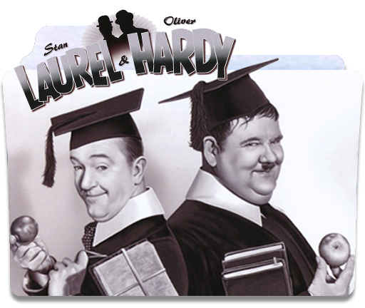 Laurel and hardy png. Folder icon by sholang