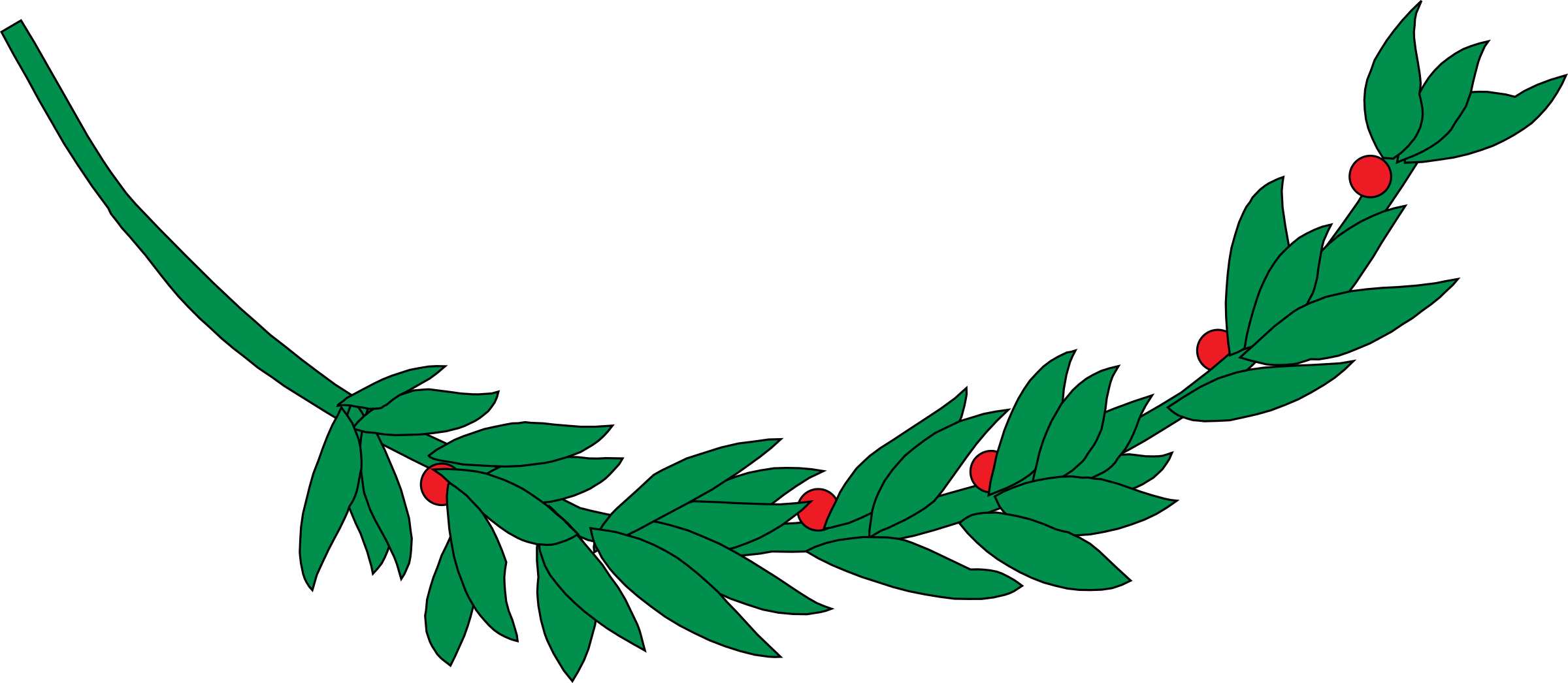 Vector laurel banner. Branch icons png free
