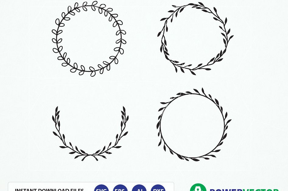 Vintage wreath w design. Laurel clipart image transparent library