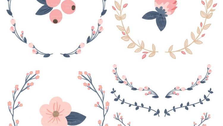 Flower fabulous feathers graphic. Laurel clipart floral royalty free stock