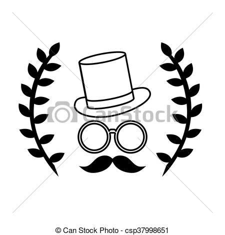 Face wreath with two. Laurel clipart hipster png library