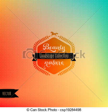 Vector backdrop with badge. Laurel clipart hipster picture library