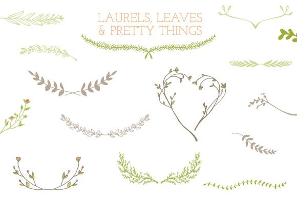 Laurel clipart leaf stem. Frames leaves and stems