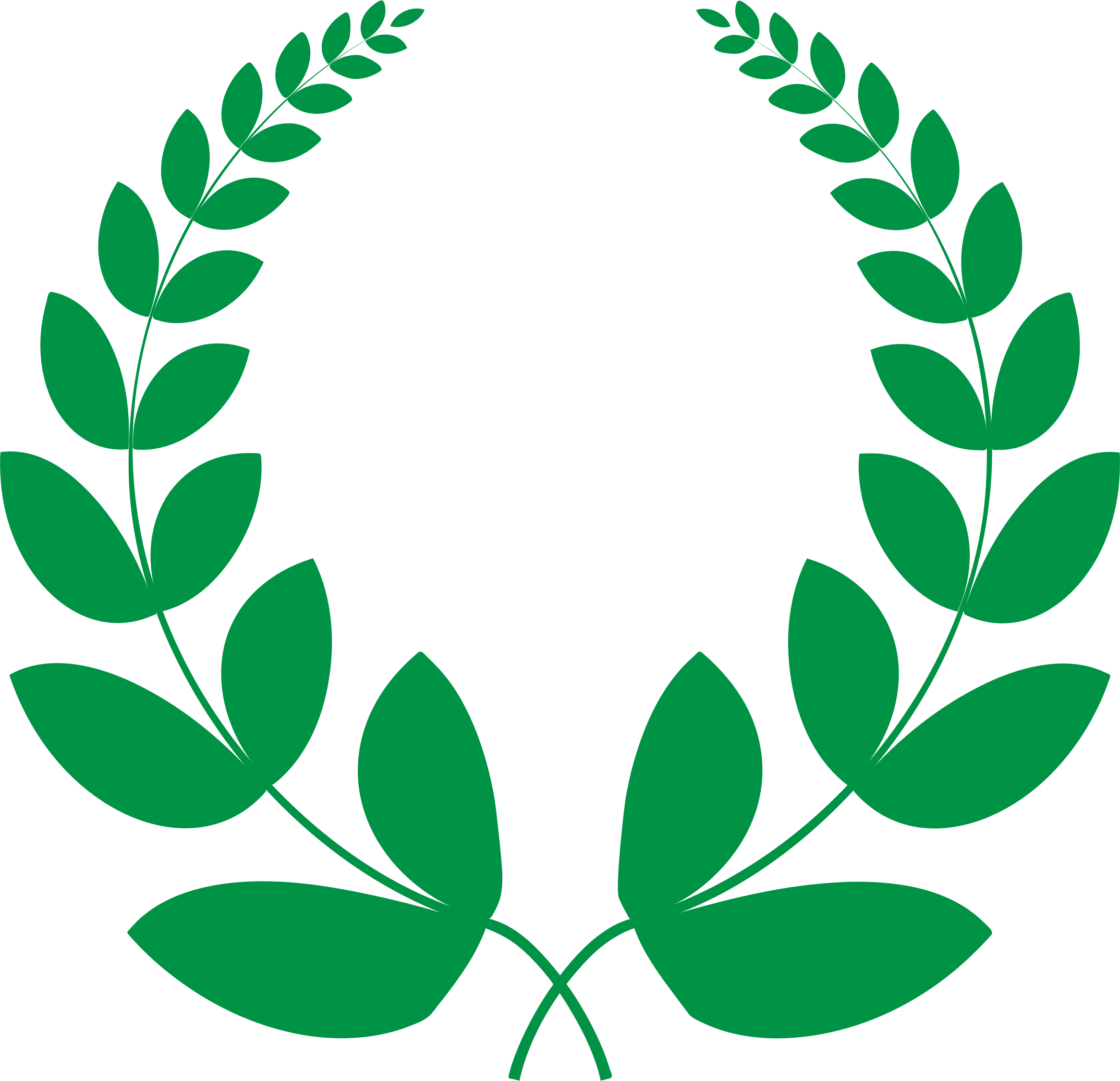 Laurel clipart pdf. Green wreath icons png
