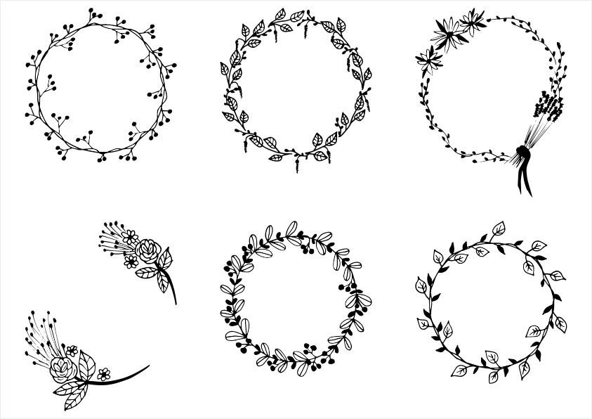 Laurel clipart pdf. Floral wreath svg png