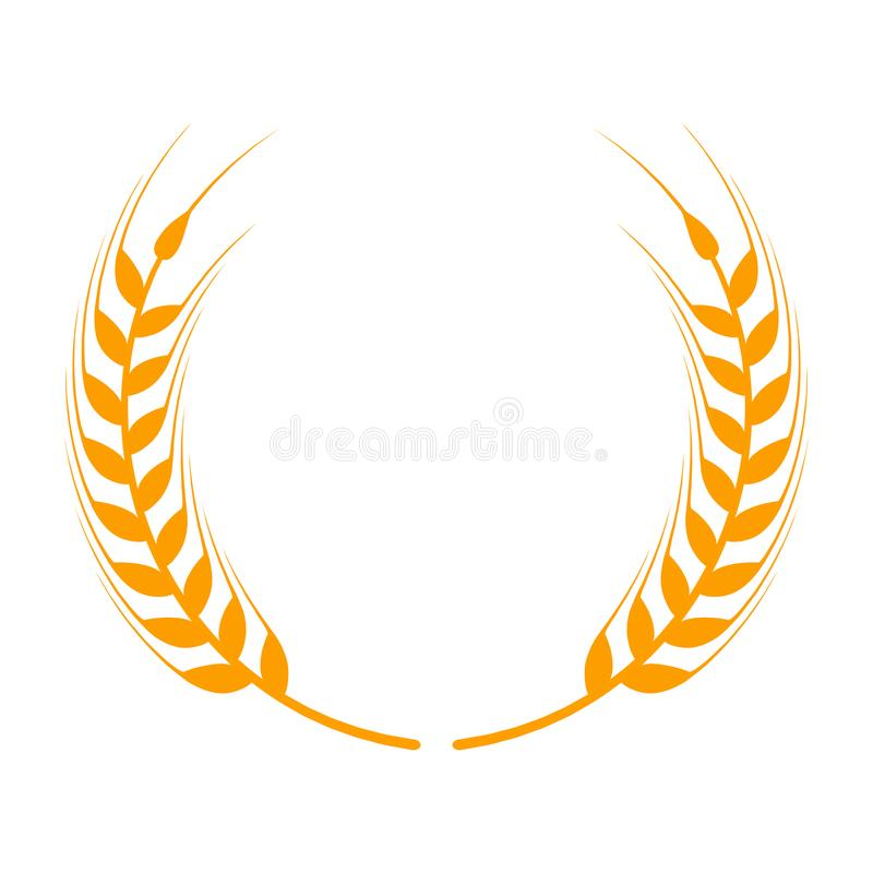 Gold wreath a symbol. Laurel clipart wheat svg black and white stock