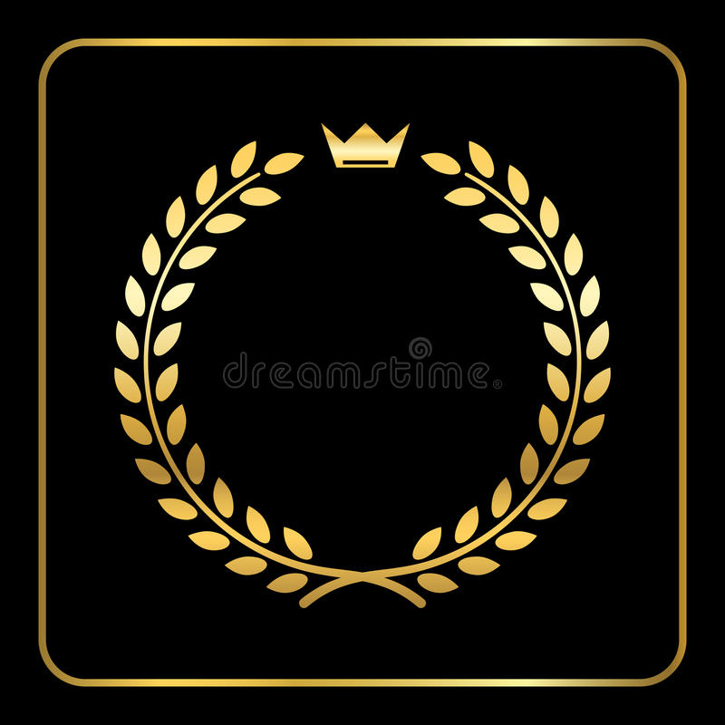 Gold wreath icon crown. Laurel clipart wheat clip library download