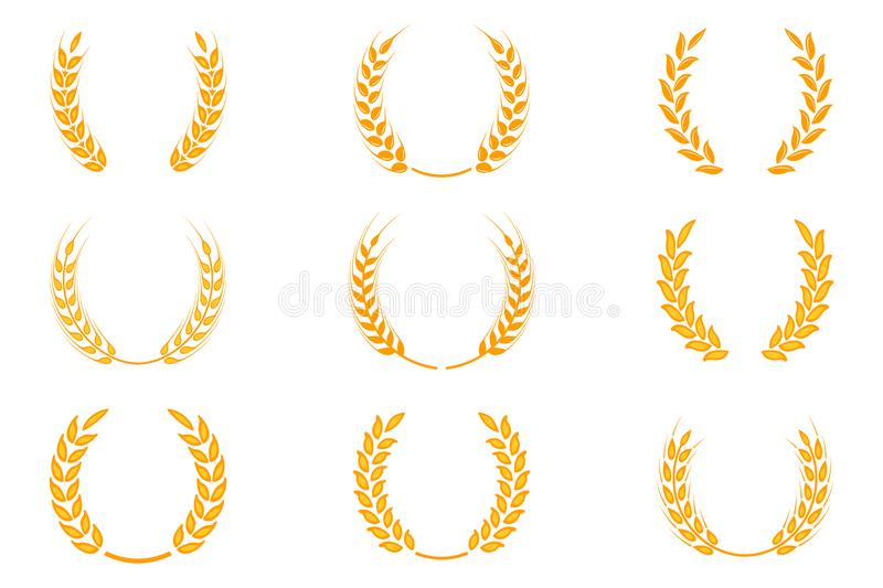Gold wreath a symbol. Laurel clipart wheat graphic freeuse library