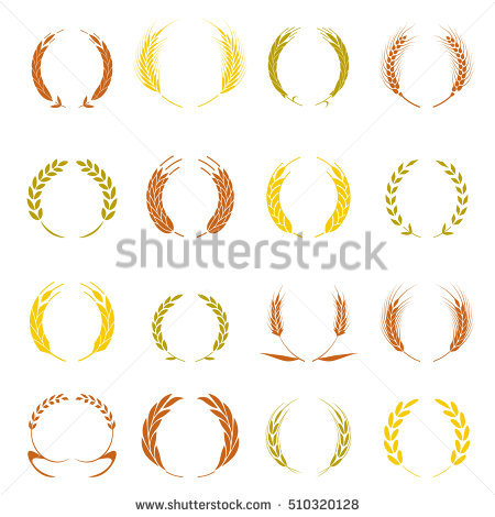 Laurel clipart wheat. Gold wreath symbol winner graphic black and white download