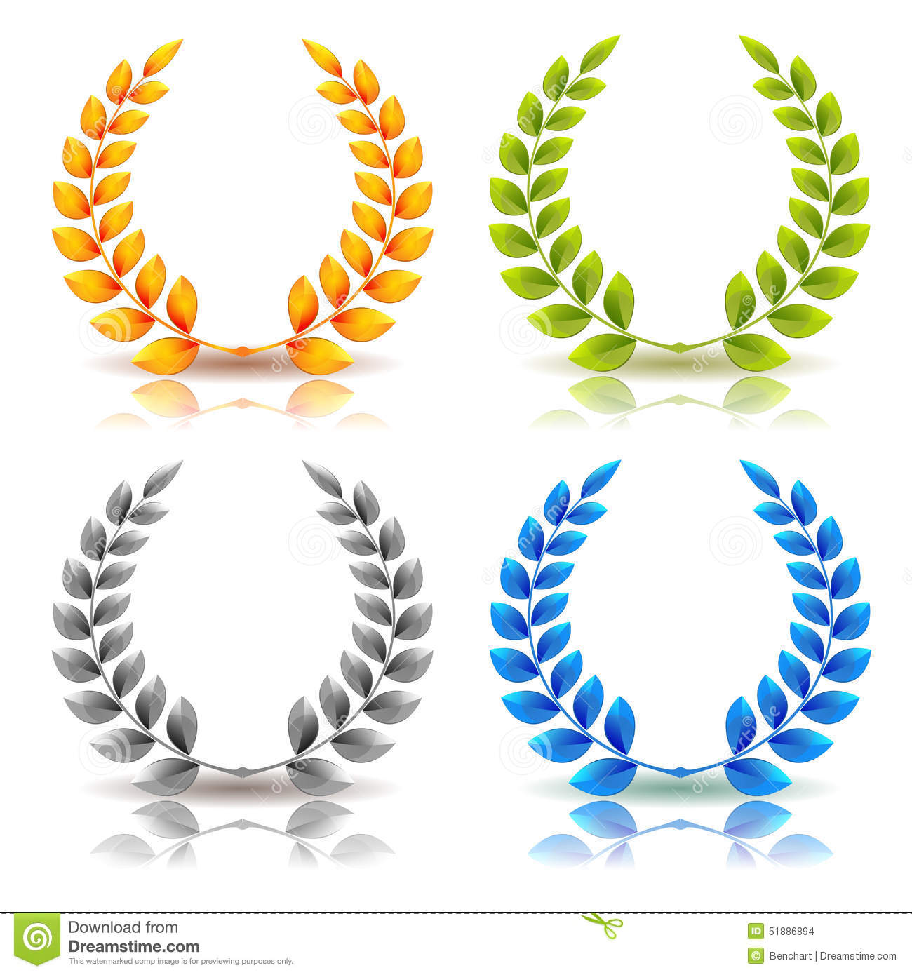 And leaves wreath set. Laurel clipart years service awards clip art black and white library