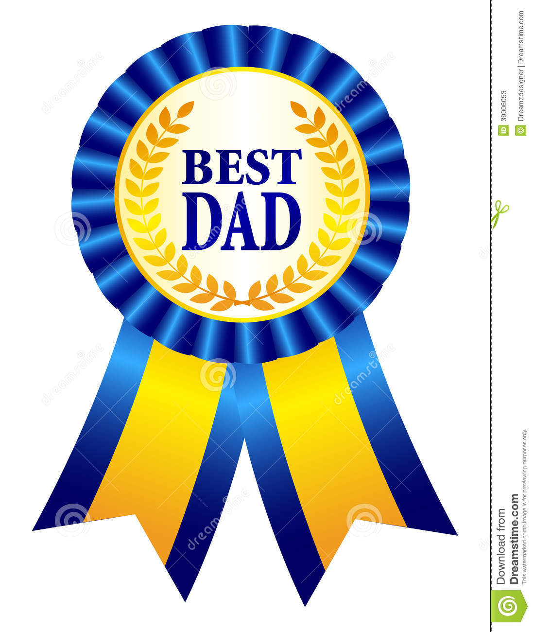 Best dad ribbon rosette. Laurel clipart years service awards svg royalty free stock