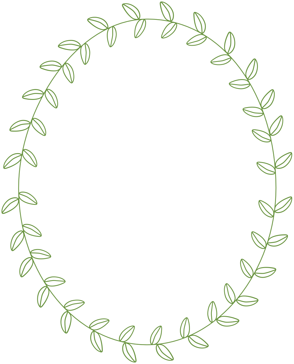 Leaf circle. Free laurel frames arrows