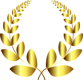 Laurel wreath gold png. Clipart no background small