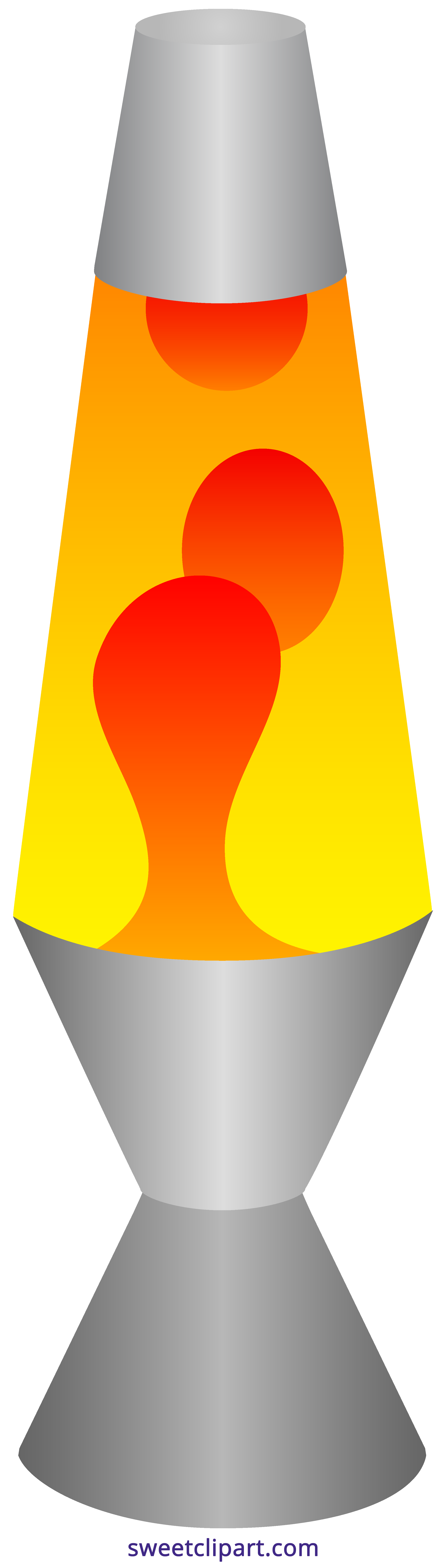 Lava clip. Lamp red yellow clipart