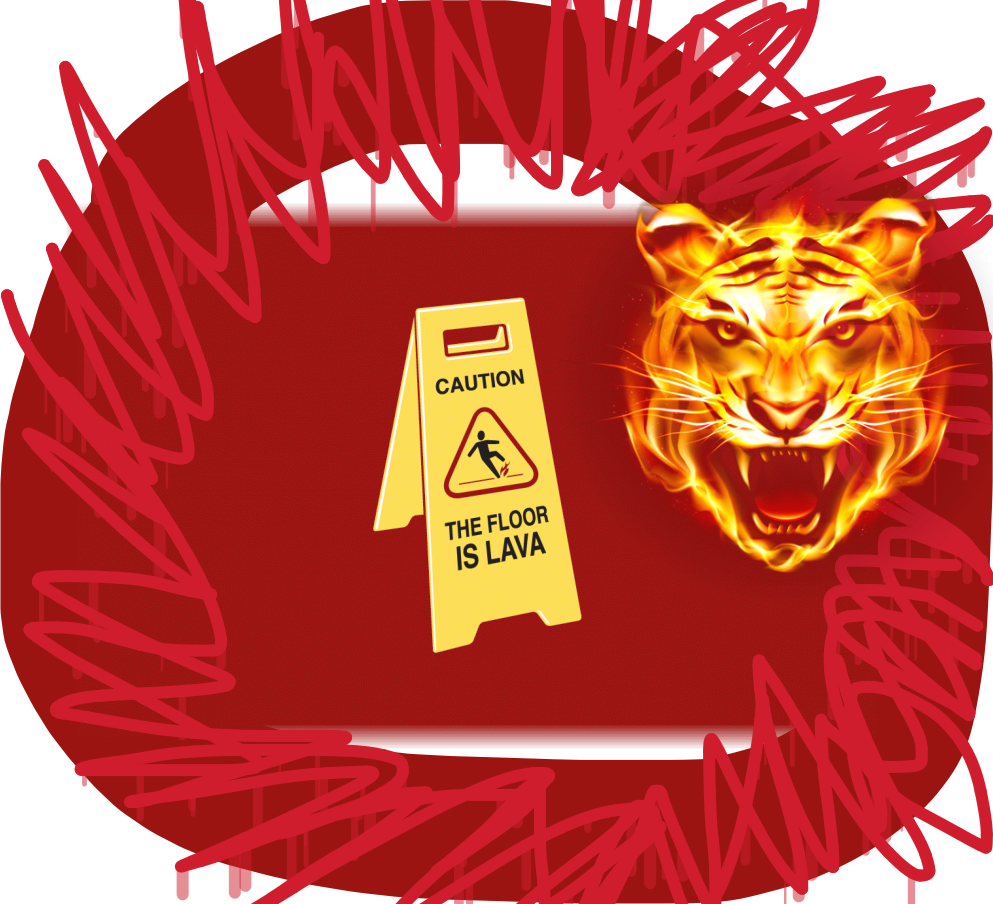 Lava vector abstract. The floor is sticker