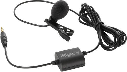 Lavalier clip. Ik multimedia irig mic graphic black and white library