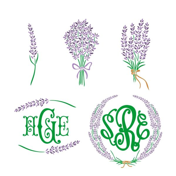 Lavender clipart svg. Cuttable designs and frame