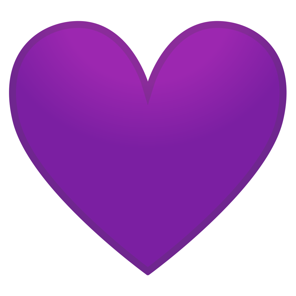 Lavender heart png. Purple icon noto emoji