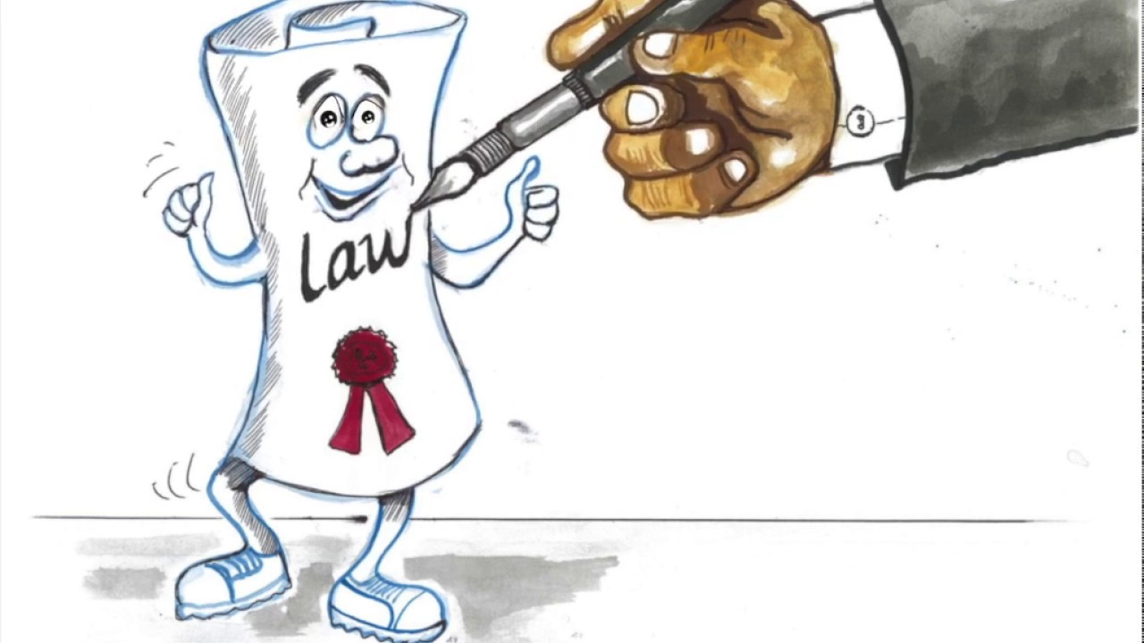 Law clipart cartoon. The process of making