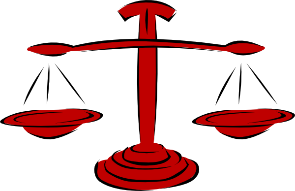 Legal clipart. Red scales clip art