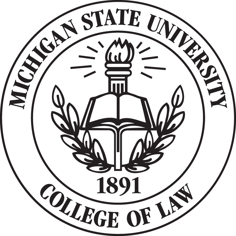 Law drawing collage. Collection of free college