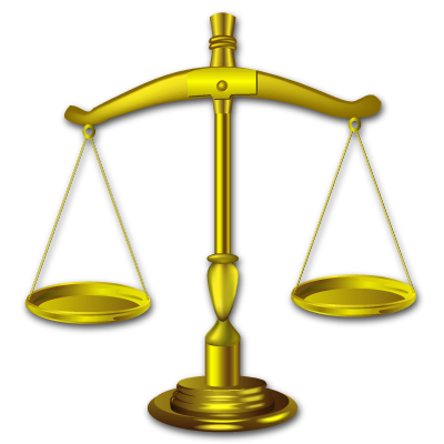 Law transparent balance. Seven by iconshock gavel