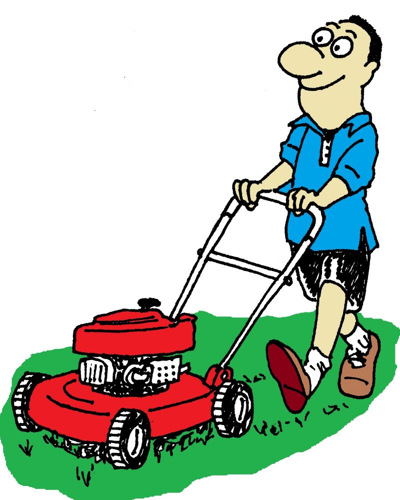Lawn care clipart design. Mowing silhouette at getdrawings