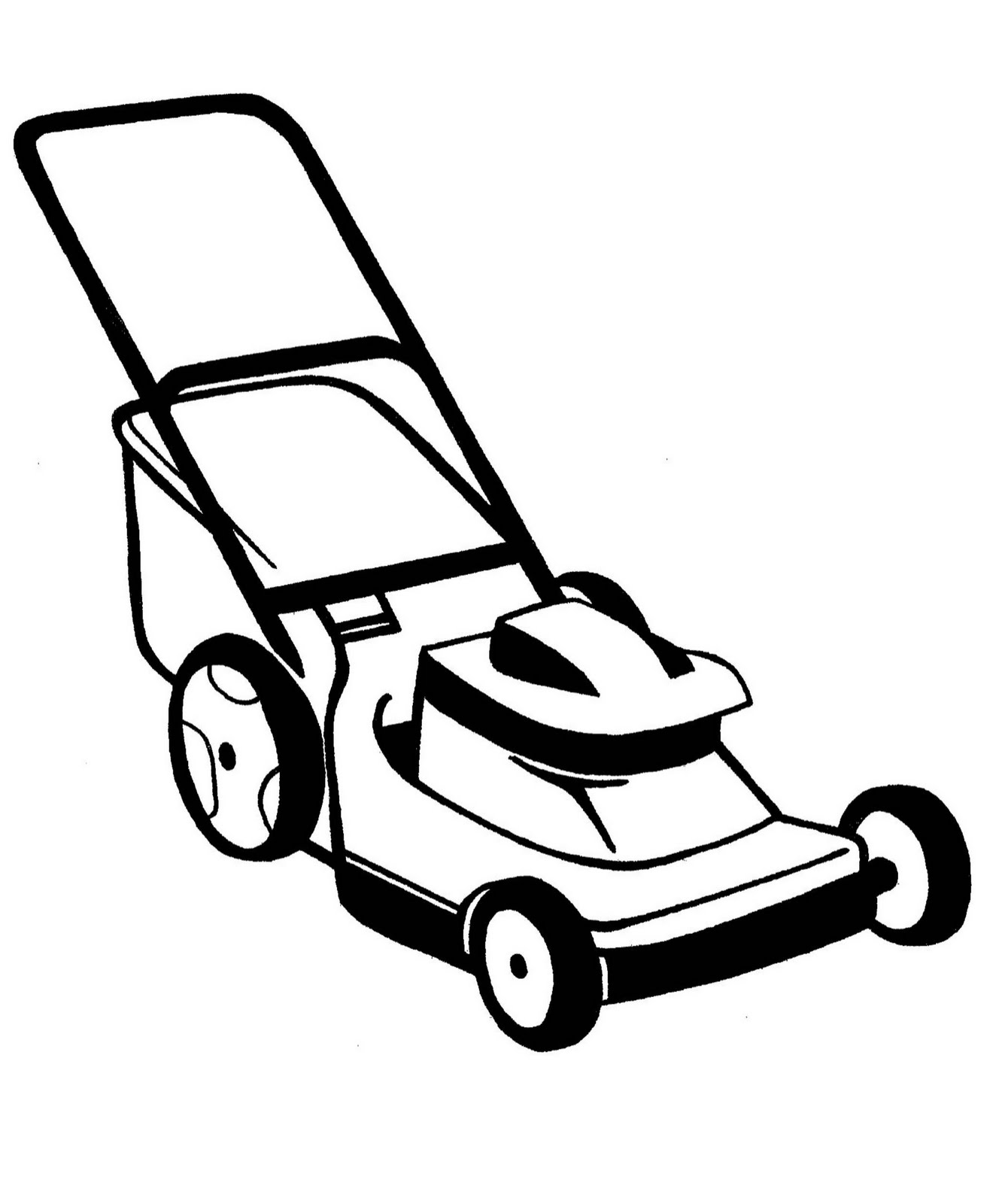 Lawn care clipart outline. Mowing silhouette at getdrawings