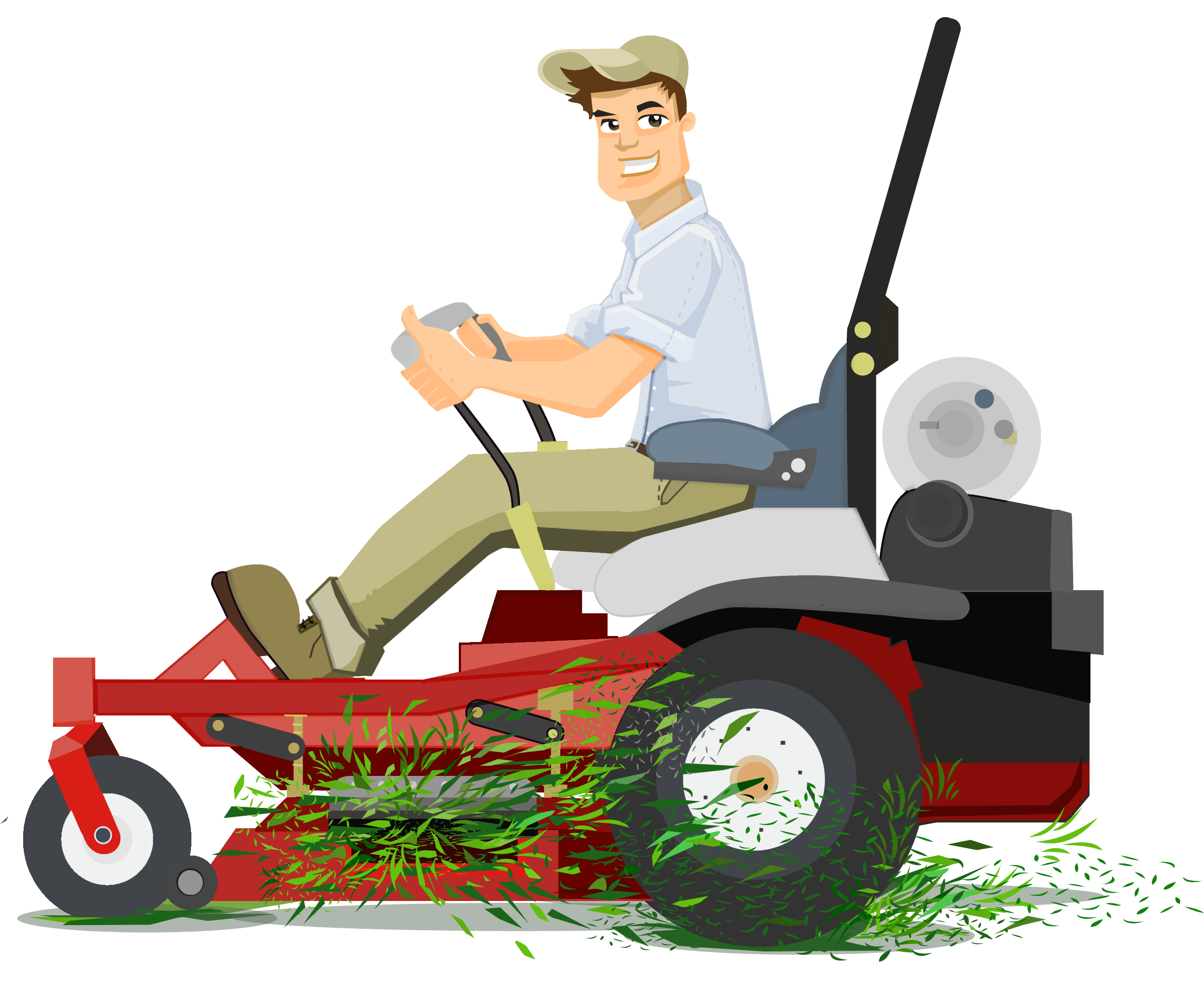 Lawnmower clipart landscaping. How to start a