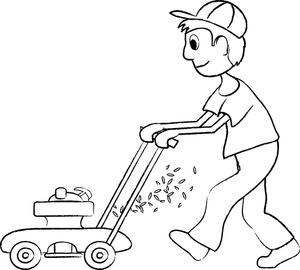 Lawn care clipart outline. Drawing at getdrawings com