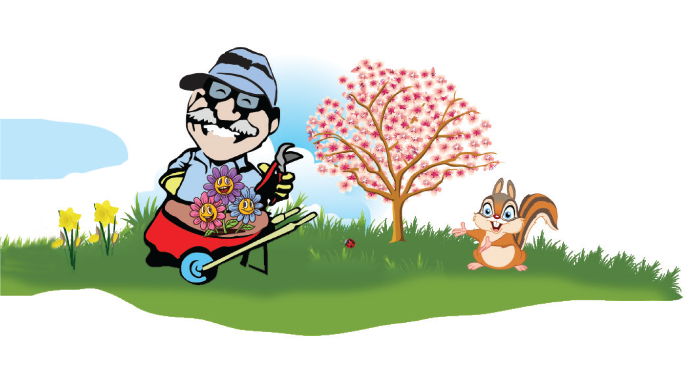 Lawn care clipart spring. Yard cleaning raking trimming