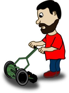 Lawn clipart brush cutter. Cutting the grass png