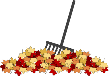 Rake clipart. Golf greens fall cleanup