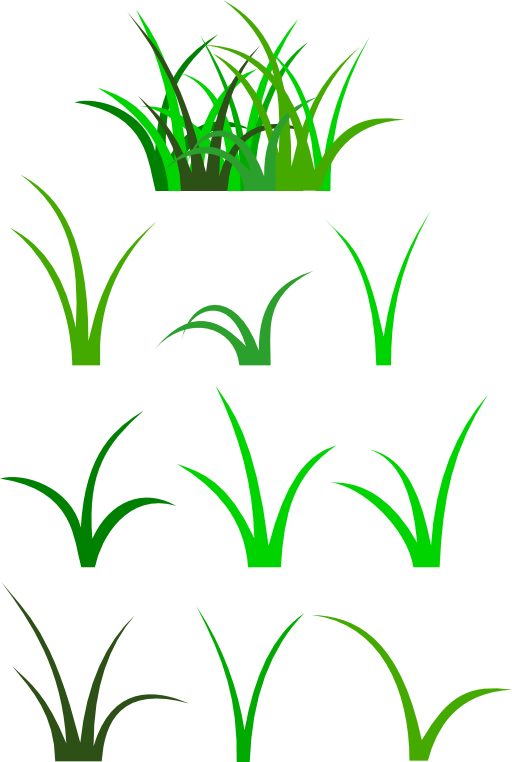 Lawn vector outline