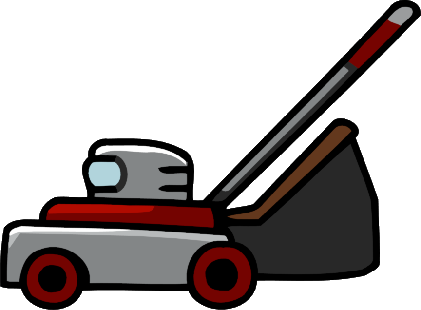 Lawnmower clipart. Free picture of lawn