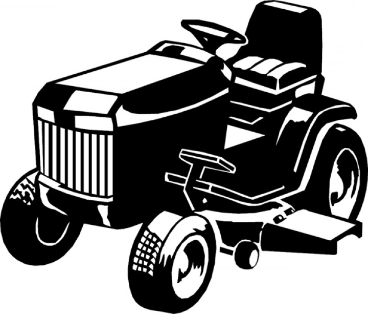 Mowing clipart vector. Lawn mower drawing at