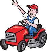 Lawnmower clipart. Riding lawn mower