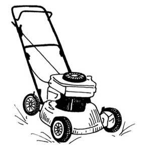 Lawnmower clipart. Lawn mower black and