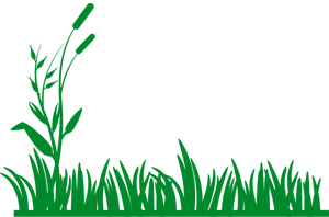 Lawn vector greenery. Publicdomainvectors org green silhouette