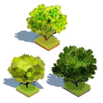 Lawn vector tree grass. Isometric png vectors psd