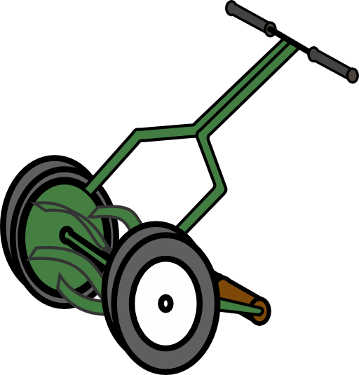 Mowing clipart tractor driver. Free picture of lawn